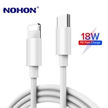 18W PD Cable Fast Charging USB Data Cable for iPhone 11 Pro XS Max XR X 8 Plus Quick