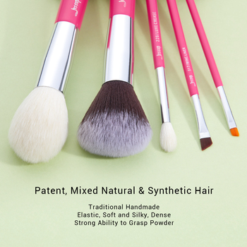 Jessup Rose-carmin/Silver Makeup brushes set Beauty Foundation Powder Eyeshadow Make up Brush 6pcs-25pcs Natural-synthetic hair 1