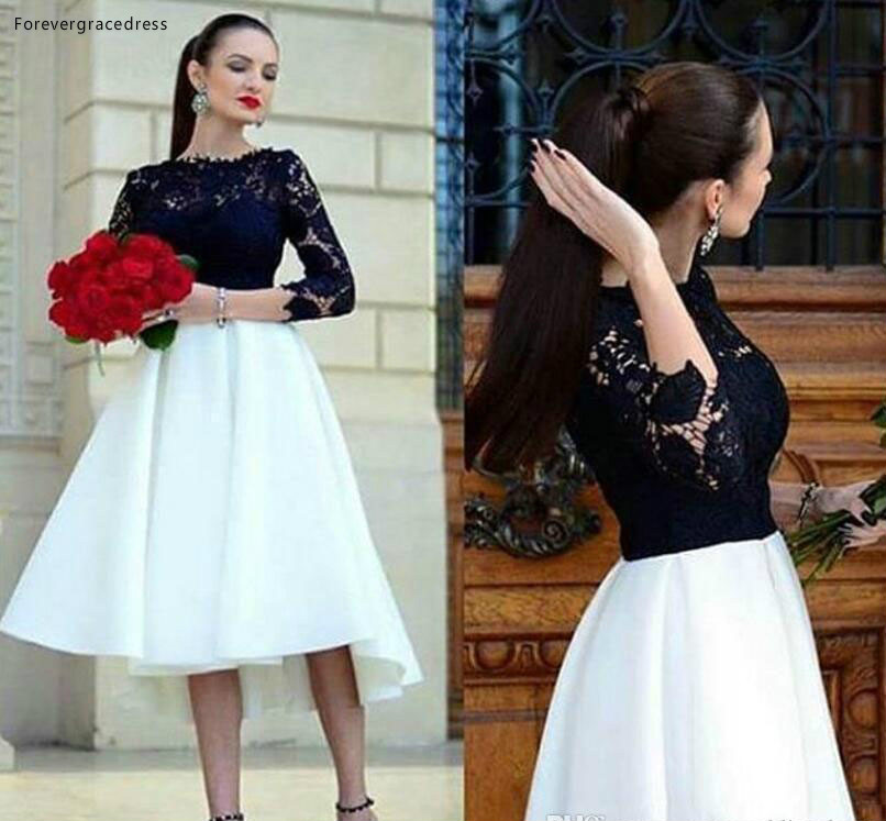 2019 Short Bateau Bridesmaid Dress A-Line Lace Top Garden Country Formal Wedding Party Guest Maid Of Honor Gown Plus Size Custom