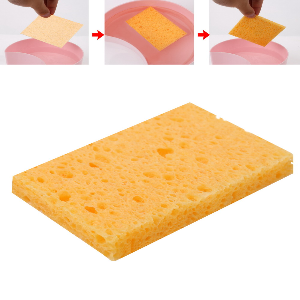 NICEYARD 1 Pcs Soldering Iron Tip Welding Cleaning Welding Table Sponge 5x3.5cm High Temperature Resistance Sponge Universal