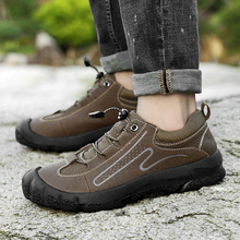New Leather Outdoor Hiking Shoes Men Waterproof Comfortable Trekking Male Athletics Tactical Chaussures Sport Homme