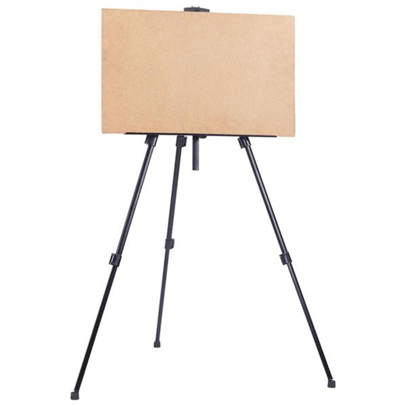 Foldable Easel Portable Light Weight Sketch Display Easel Stand With Black Carry Bag For Artist Art Tools Folding Painting Easel