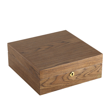 Casegrace Luxury Large Square Wooden Jewelry Box Organizer With Lock Velvet Watch Ring Necklace Jewellery
