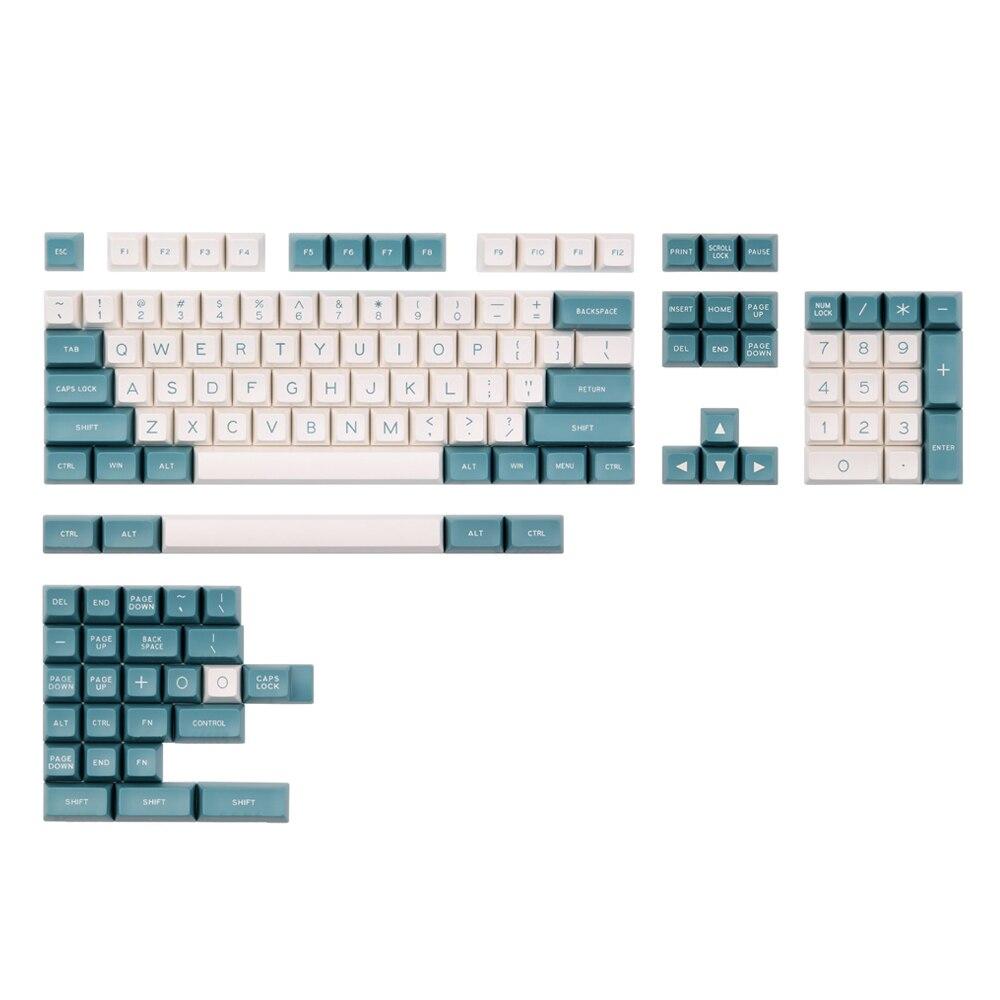 134 Keys kiraz anahtarı Keycaps yeşil beyaz renk SA profil ABS Keycaps Set mekanik oyun klavyesi için