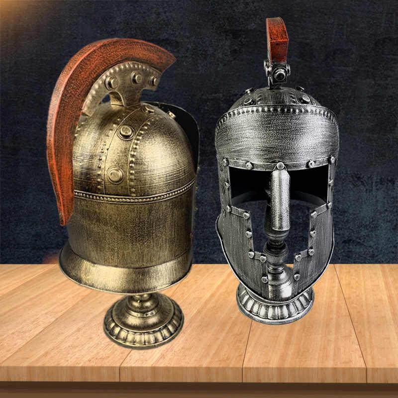 Strongwell винтажный Европейский шлем римского воина статуя металлическая Броня железная модель реквизит украшение дома аксессуары подарок