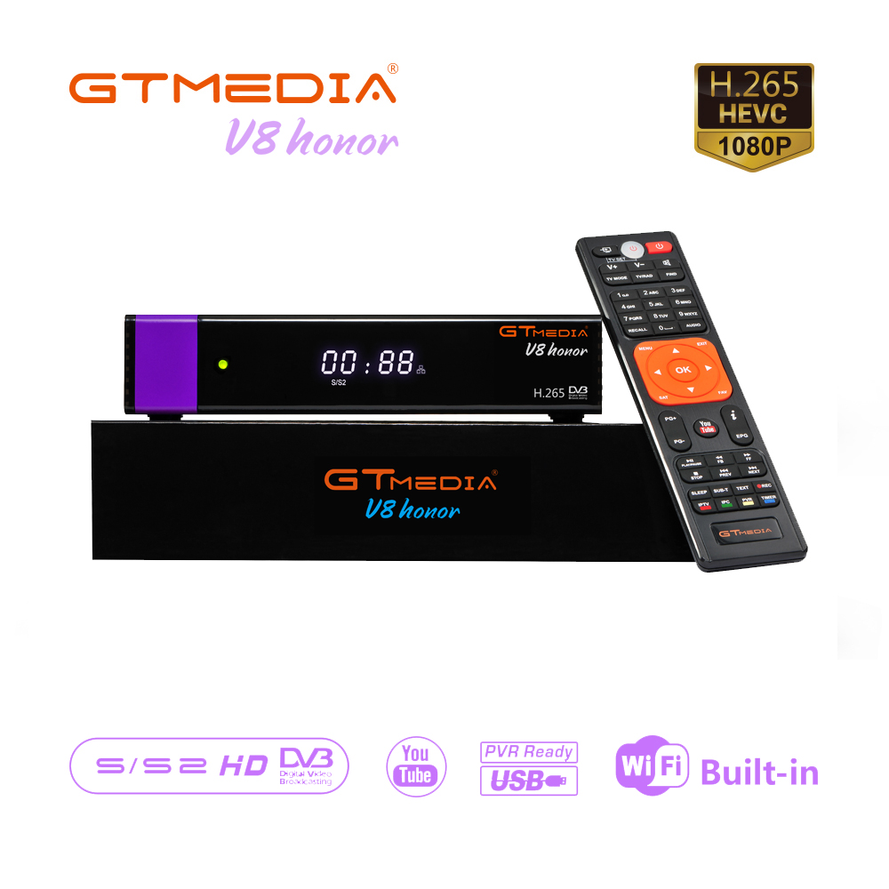 GTmedia Honor DVB-S2 Satellite Receiver Same As GTmedia V8 Nova GTmedia V9 Super Support Europe Cccam Free Satellite Tv Decoder