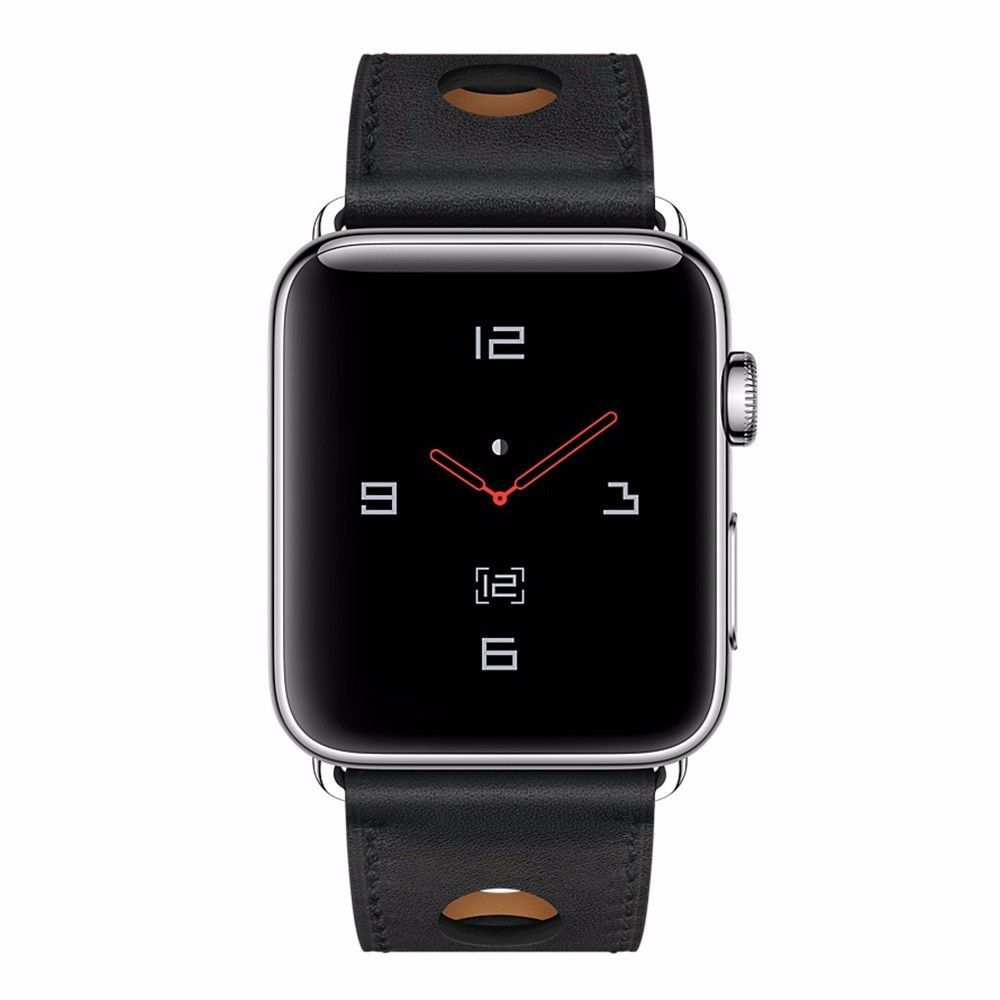 Suitable For Apple Watch Iwacth Watch Strap AppleWatch Apple Hide Substance Official Porous Leather Watch Strap