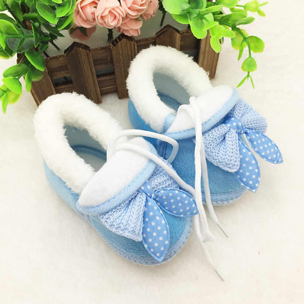 Nieuwe Winter Baby Schoenen Laarzen Peuter Pasgeboren Baby Meisje Jongen Effen Laarzen Zachte Zool Laarzen Prewalker Warme Schoenen Pasgeboren kid schoenen