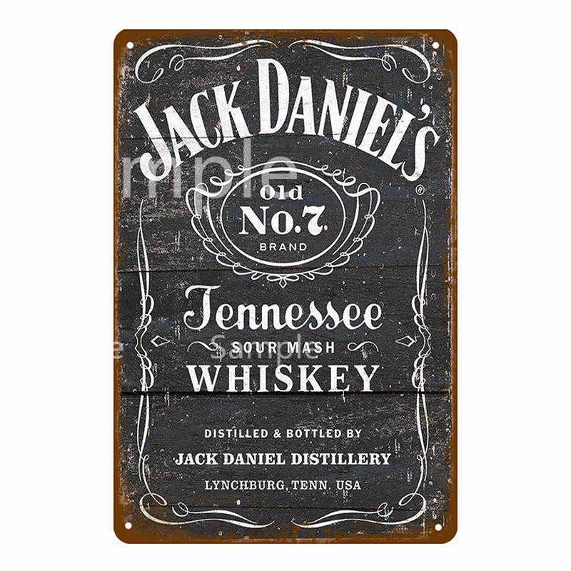 Jack Daniels democracia Placa Letrero De Metal Cerveza Cueva de hombre Bar Pub Garaje Cobertizo Retro