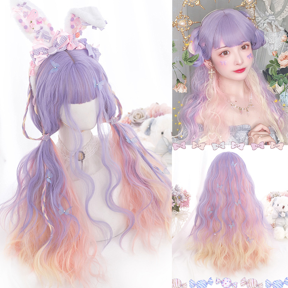 Pastel Ombre Aesthetic Wigs 2