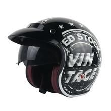 Yema 629 moto masculino e feminino quatro estações personalidade geral legal clássico halley meia capacete da motocicleta equipamentos peças