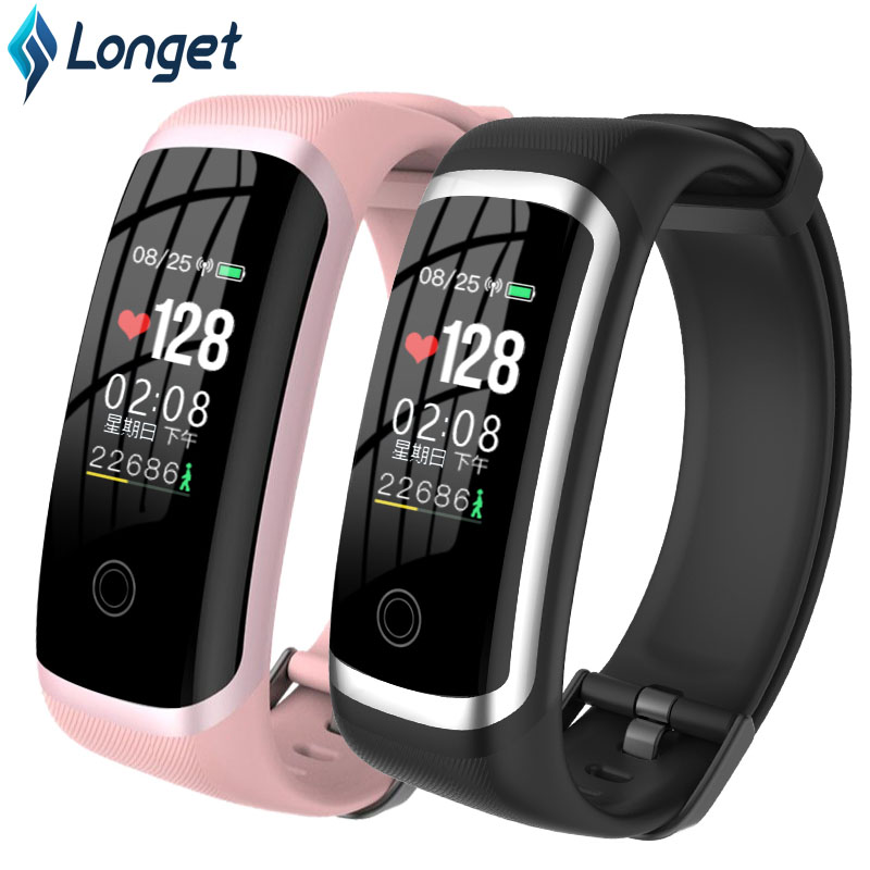 Longet Smart Bracelet M4 Sport Wristband FitnessTracker Waterproof HeartRate Monitor With Sleep Monitor Men Watch For IOS Xiaomi