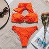 In-X Orange bikini 2019 Sexy high neck swimsuit female Biquinis push up swimwear women Ring bathing suit summer Bathers 2 piece