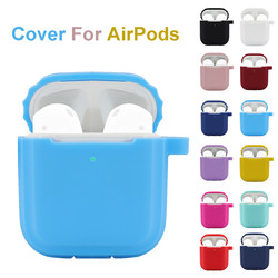 Durable Silicone Anti-lost Earphones Cushion Cover Skin Case for Apple AirPods 2 with Ear Hook High Quality Shockproof