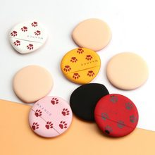 8pcs Cat Claw Print Air Cushion Puff Sponge Dry And Wet Dual-use Liquid Foundation Loose Powder Makeup Puff(China)