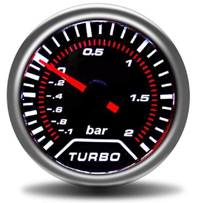 fgyhty 52mm 12V Azul Claro de Coches Turbo Prensa Metro del calibrador Turbo Boost Gauge Medidor de vac/ío autom/ático de vac/ío Medidor de Prensa