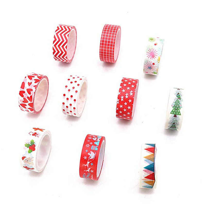 5M * 15MM Es dan Salju Washi Tape Kertas Jepang DIY Perencana Masking Tape Perekat Stiker Dekoratif alat Tulis Tape