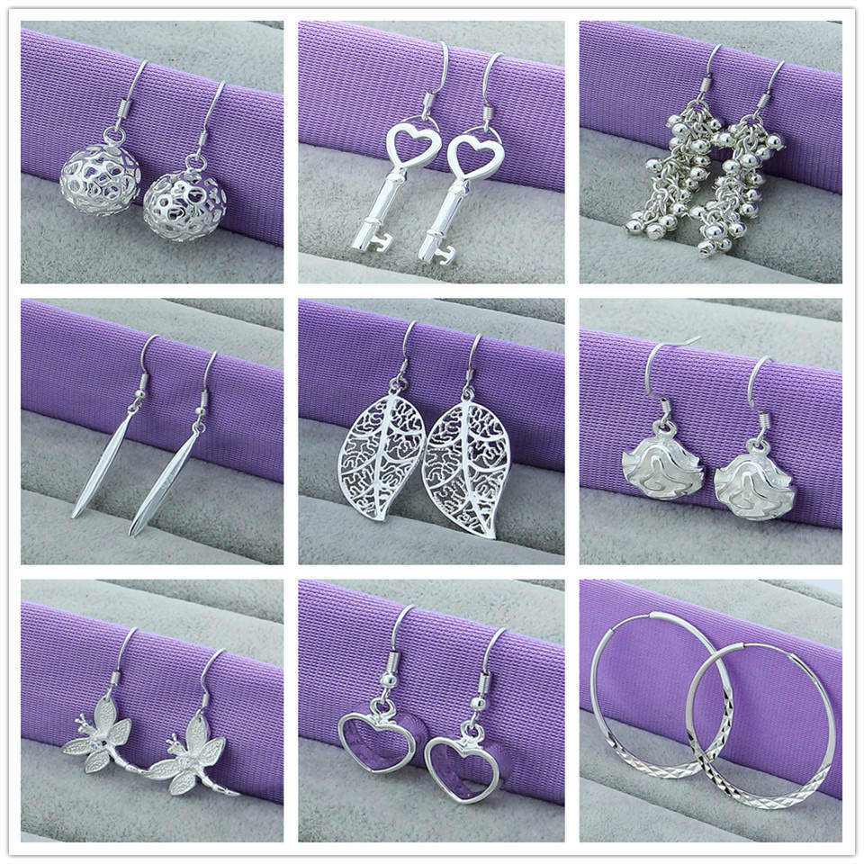 Earring 925-Sterling-Silver Fine-Jewelry Flower/insect Woman New-Fashion for Circle