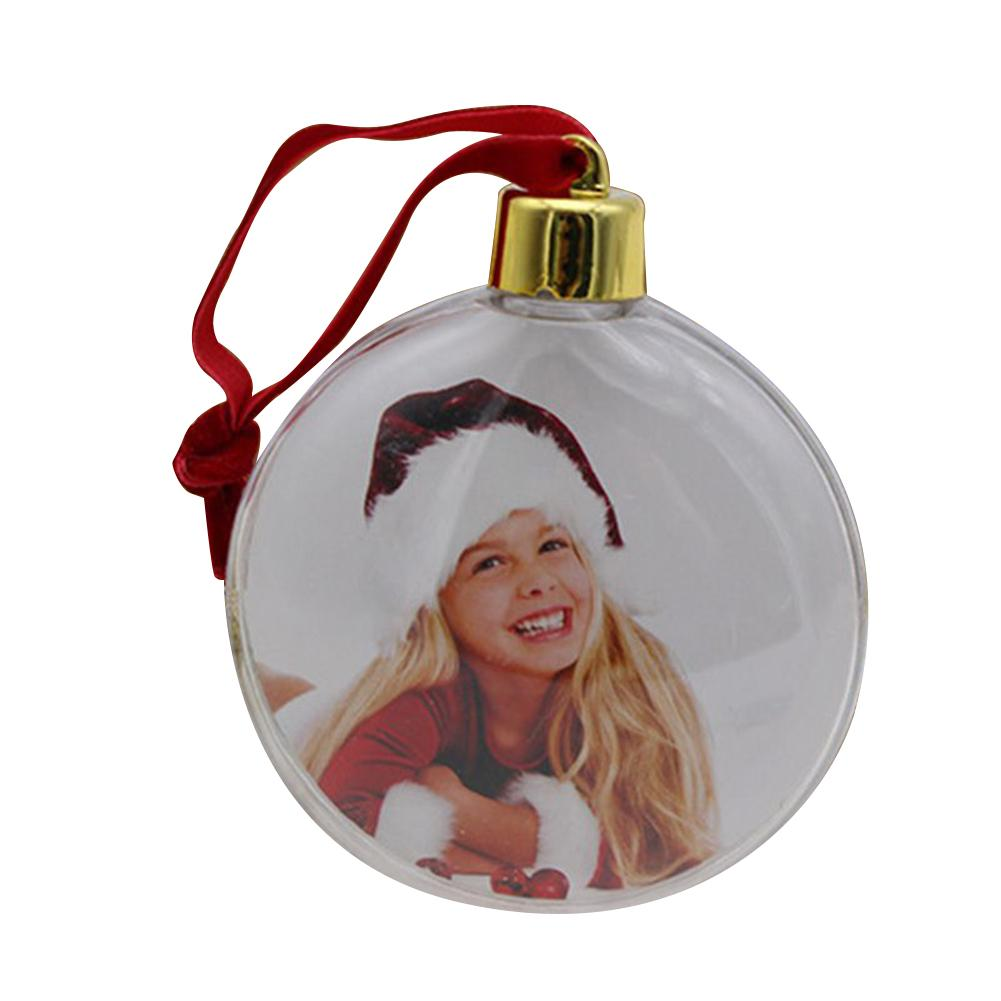 Christmas Transparent Plastic Photo Five-star Ball Christmas Decorations X-mas Tree Hanging Decor For Home Diy Party Kids Gifts