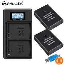 PALO EN-EL14 EN EL14 EN-EL14a Battery + LCD Dual Charger for Nikon P7800,P7100,D3400,D5500,D5300,D5200,D3200,D3300,MH-24