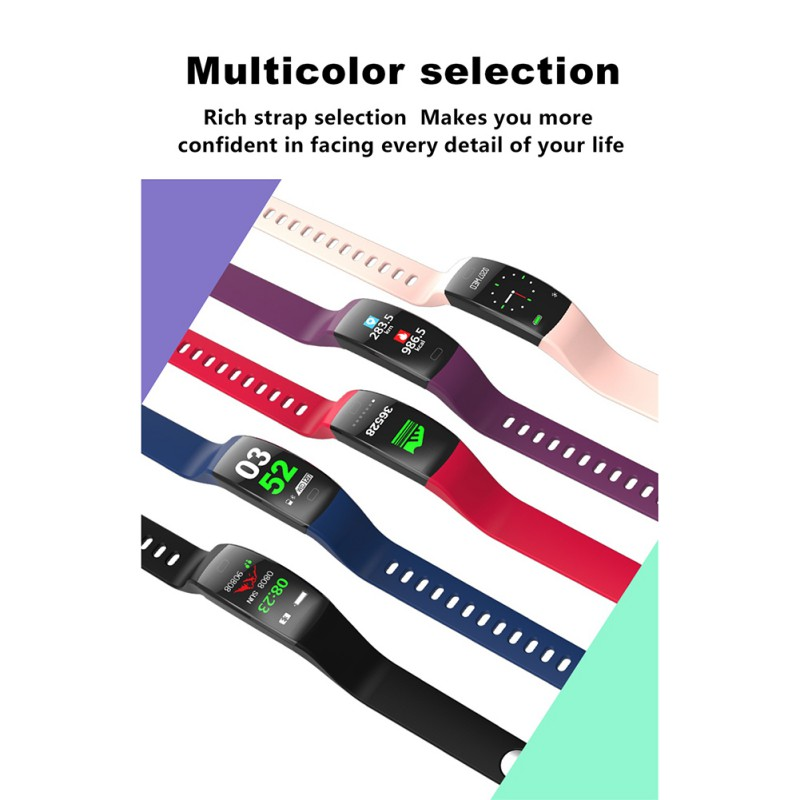 F64HR Smart Bracelet Waterproof Sports Mileage Calories Burn Information Reminder Activity Track Watch Smart Wristband in Smart Wristbands from Consumer Electronics