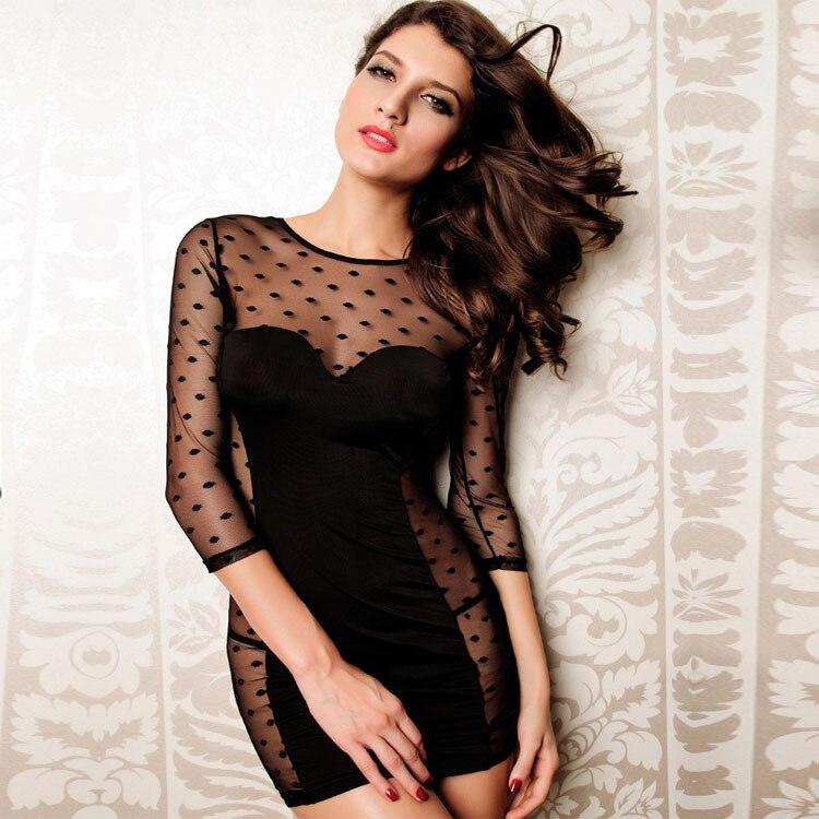 Сексуальное женское белье, нижнее белье, черное, в горошек, прозрачное, vestidos, сексуальное, mujer, кружевное, полупрозрачное, lenseria erotica, ночное