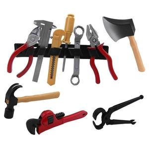 Image 2 - 14 pçs/set ferramenta de reparo jogar casa brinquedos modelo para o bebê aprendizagem precoce brinquedos educativos casa simulação plástico ferramentas das crianças