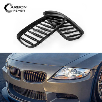 For BMW Z4 E85 E86 Front Bumper Kidney Grille Mesh Roadster Coupe Single Slat Gloss Black image