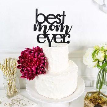 Adornos de pastel de acrílico para el día de la madre, oro rosa, mejor mamá, adornos de pastel de fiesta, novedad de 2021