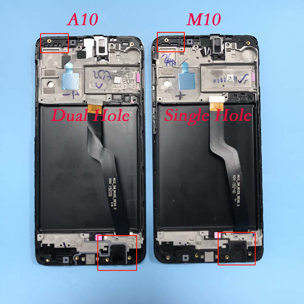 Original For <font><b>Samsung</b></font> Galaxy A10 Touch Screen A105 A105F SM-A105F 2019 <font><b>LCD</b></font> Digitizer Assembly With Frame Replacement <font><b>M10</b></font> M105 <font><b>LCD</b></font> image