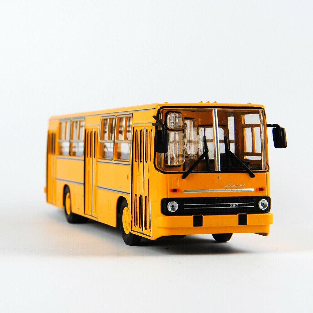 25cm 1/43 Diecast Alloy Soviet Russia Double-decker Bus Model IKarus-260/280 Model Toys hot sales