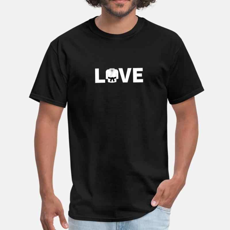Aşk Bjj hediyeler Taekwondo hediyeler komik Karate erkek tişört % 100% pamuk klasik komik erkek tişört kısa kollu giysiler en kaliteli