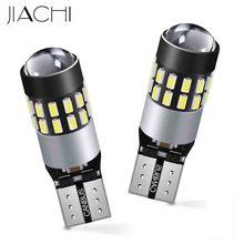 JIACHI 100PCS ha condotto le lampadine T10 W5W 194 168 501 CANBUS nessun errore lampade interne di spazio degli accessori dellautomobile di Non polarità DC12 24V bianco