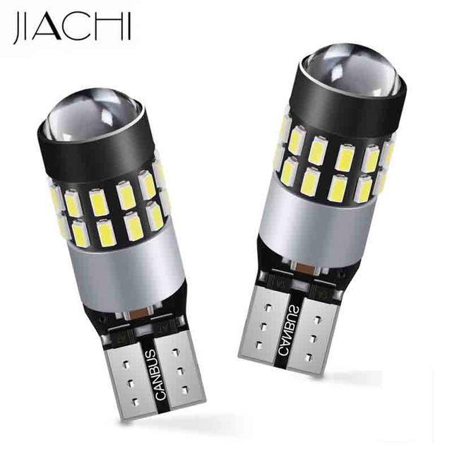 JIACHI 100x led T10 W5W 194 168 501 12 فولت 24 فولت سيارة لا خطأ LED CANBUS غير قطبية الأبيض اكسسوارات السيارات الداخلية التخليص مصابيح