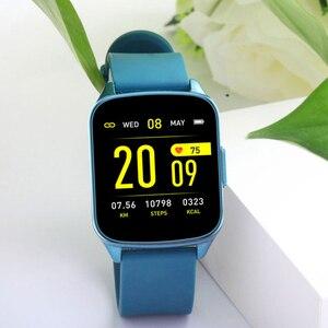 Image 5 - SENBONO KW17 pasek do smarwatcha mężczyźni kobiety zegarek sportowy pulsometr pomiar podczas snu Smartwatch tracker dla IOS Android