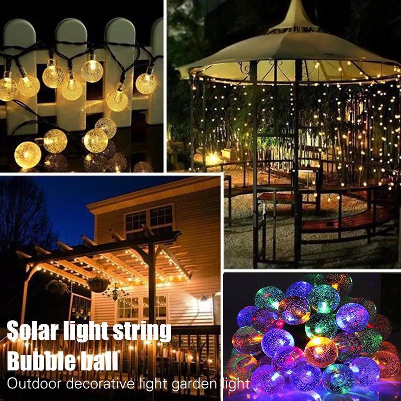 Fairy Light Fairy String Light Crystal Ball Light Solar 20/30LED Durable Super Bright Romantic Outdoor Landscape Lamp Festival