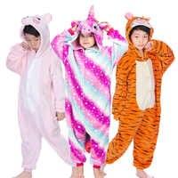 Kigurumi Kids Pajamas for Children Boys Girls Animal Unicorn Pajamas Set Panda Stitch Sleepwear Winter Pyjamas Christmas Onesies