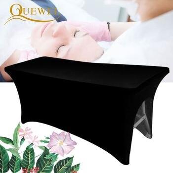 Cubierta de cama para pestañas, láminas de belleza, mesa elástica, extensión de pestañas extensible, hoja de salón cosmético profesional con agujero Quewel