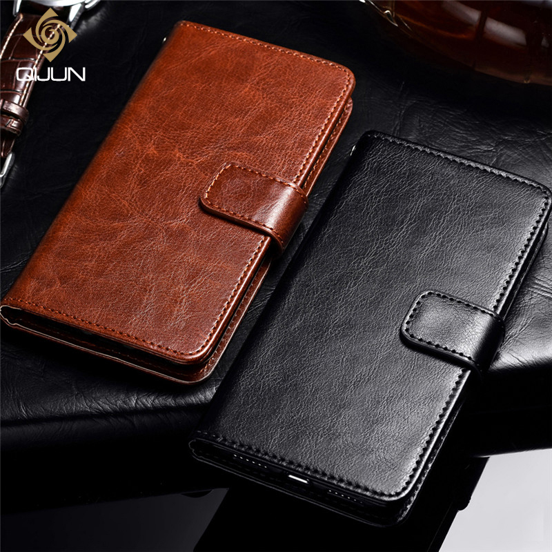 QIJUN Luxury Retro PU Leather Flip Wallet Cover Coque For <font><b>Alcatel</b></font> 3 5052D 5052Y 5052 <font><b>5</b></font> 5086A <font><b>5086Y</b></font> 5086D Stand Card Slot Fundas image