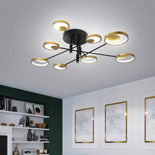 Nordic Luxury LED Ceiling Lights Round Aluminum Lamps For Dinning Room Living Room Creative Glod Web Celebrity Pendant Lights
