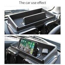 Черный Автомобильный внутренний ящик для хранения приборной панели подходит для Suzuki Jimny с красным ковриком