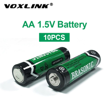 VOXLINK 10PCS  battery AA 1.5V LR6 AM3 E91 MN1500 Carbon Dry Battery Primary Battery For MP3 camera flash razor electric mouse sale 4 10pcs 1 5v lithium aa battery 3000mah lr6 am3 2a lifes2 cell dry primary battery for camera and toys electric shaver