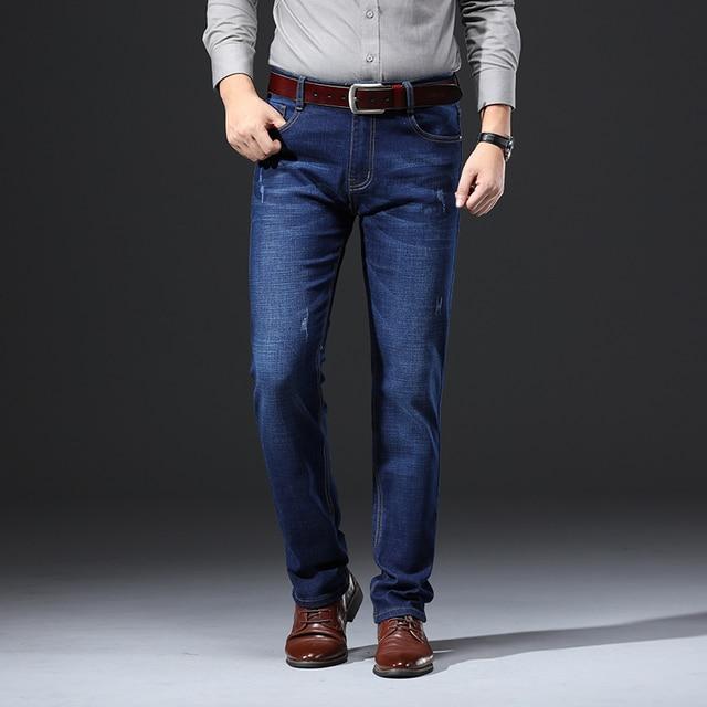 2020 New Design Jeans Mens Pants Cotton Deniem Classic Trousers Casual Stretch Slim High Quality Black Blue Multiple Styles 3