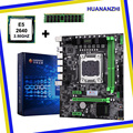 Материнская плата HUANANZHI M-ATX X79 с процессором Intel Xeon E5 2640 SROKR 2 5 ГГц ОЗУ 8 ГБ DDR3 REG ECC