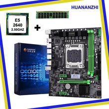 Купить с кэшбэком HUANAN X79 motherboard CPU RAM combos X79 LGA 2011 motherboard CPU Xeon E5 2640 RAM 8G DDR3 REG ECC support 2*8G at the most