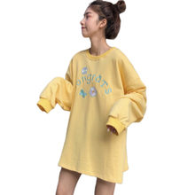 Hoodie Female Sweatshirt Women Letter Printed Loose Hooded Trendy Plus Velvet Sweatshirts Korean Style Harajuku All-match Bts(China)