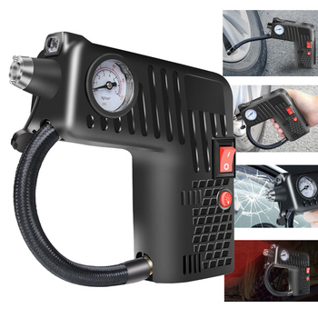 Air Inflator Compressor Pump Multifunctional Portable 12V  Tire Safety Cordless For Motorcycle Electric Auto Car Bike