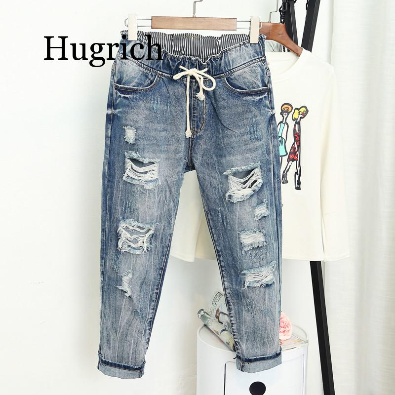 2020 Summer Ripped Boyfriend Jeans For Women Fashion Loose Vintage High Waist Jeans Plus Size Jeans 5XL image