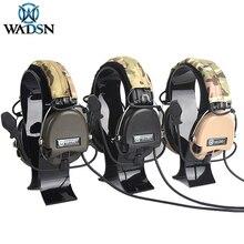 사냥 헤드셋 전술 헤드폰 airsoft 위장 군사 표준 헤드셋 소음 취소 항공 워키 토키 헬멧