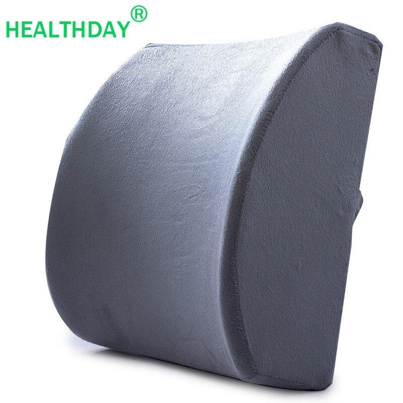 Ergonomic Design Back Pillow For Chair Lumbar Support Pillow Cushion Slow Rebound Memory Foam Lumbar Office Chair Waist Cushion